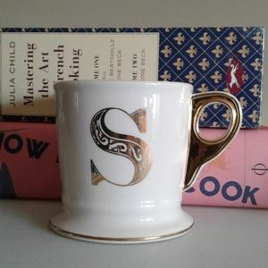 Anthropologie monogram limited edition coffee mug.